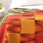 Tunisian Woven Blocks Crochet Throw