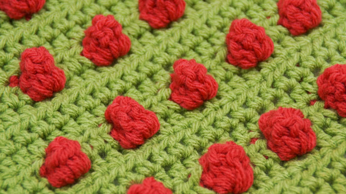 Popping Bobbles Crochet Stitch