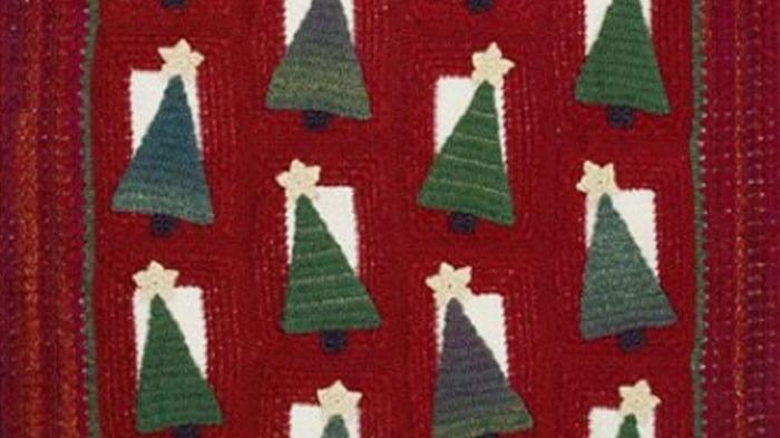 Christmas Tree Crochet Afghan