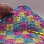 Tunisian Entrelac in a Square Afghan + Tutorial