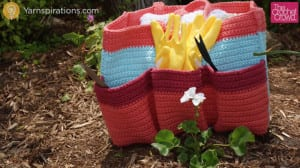 Crochet Garden Tote Bag