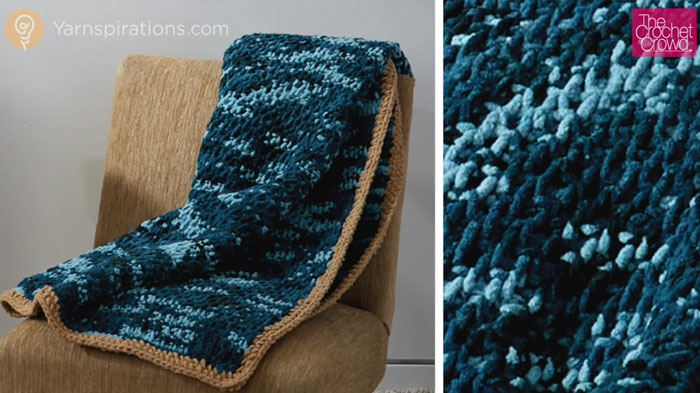 Tunisian Honeycomb Blanket + Tutorial