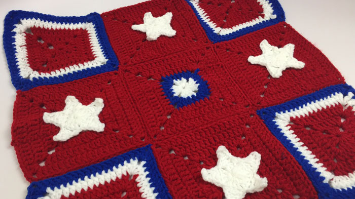 American Stars and Squares Afghan
