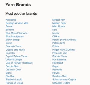 Yarn Sub Lists