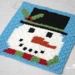 Snowman Pixel Square: Corner to Corner