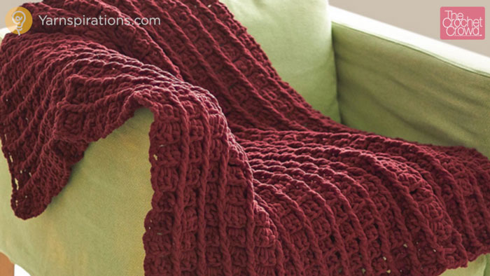 Crochet Patterns Using Bernat Home Bundle : Crochet Bernat Bricks Blanket + Tutorial - The Crochet Crowd