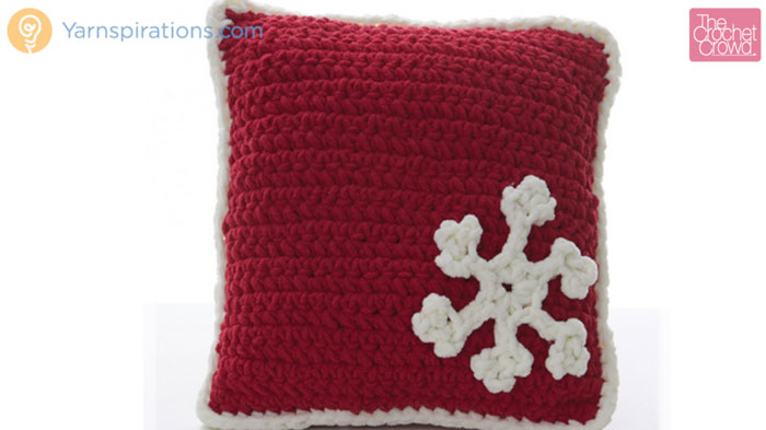 Bernat Blanket Crochet Snowflake Pillows