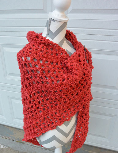 Free Crochet Patterns For Boucle Yarn : Assorted Boucle Shawls - The Crochet Crowd