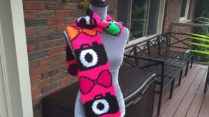 Crochet Camera Bow Tie Scarf
