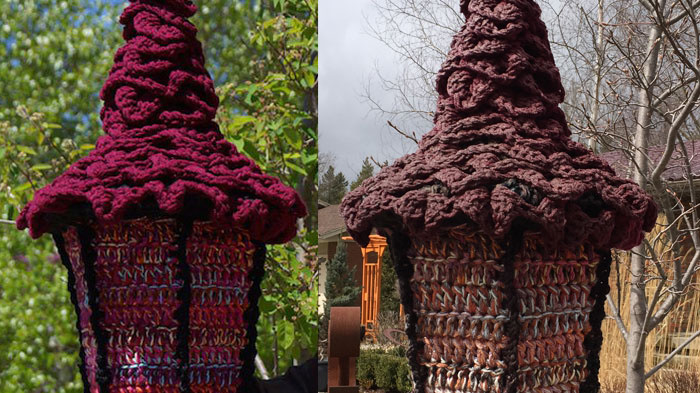 What Happens to Acrylic Yarn Outdoors Experiment