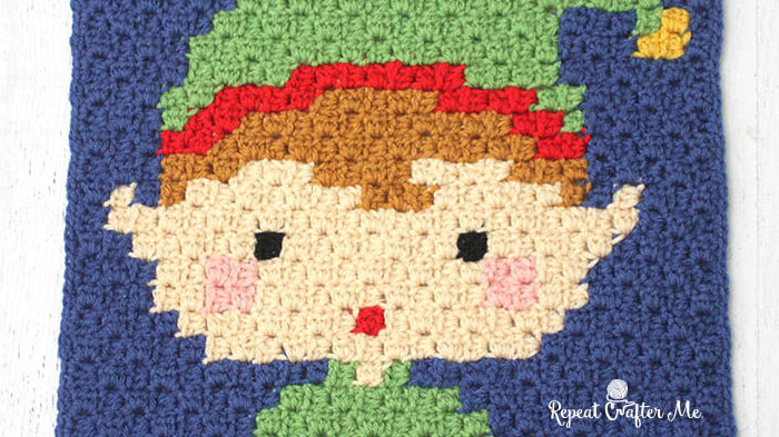 Crochet C2C Elf Square Pattern