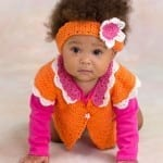 Flower Petal Cardigan for Baby