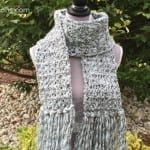 Crochet Icy Scarf + Tutorial