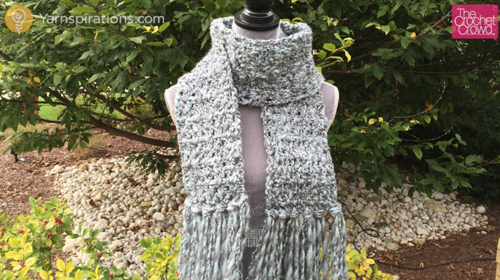 Crochet Icy Scarf Pattern + Tutorial