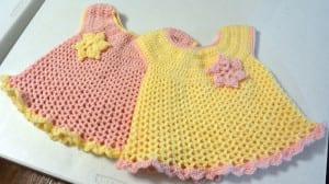 Little Sweetie Dresses, Crocheted by Jeanne