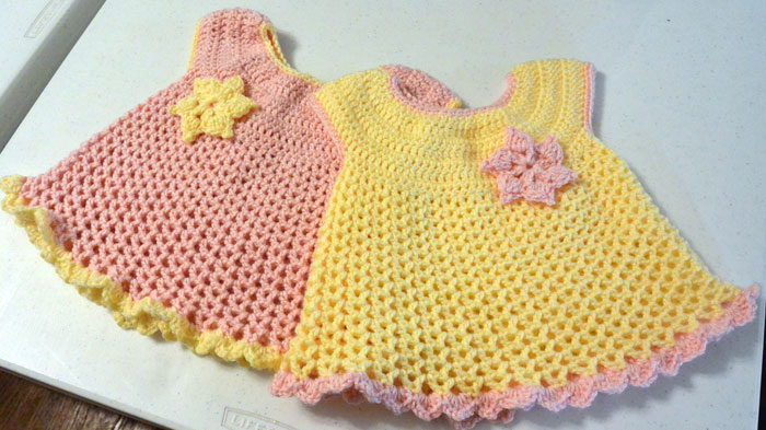 Little Sweetie Dresses, Crocheted by Jeanne