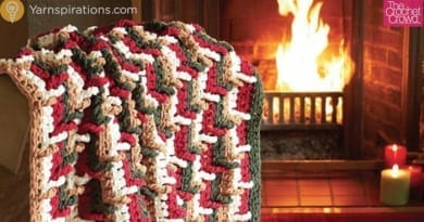 Crochet Step Ladder Afghan