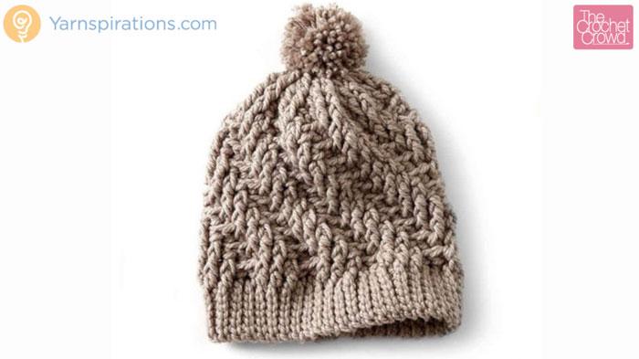 Crochet Stepping Texture Hat Pattern