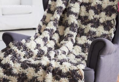 Bernat Blanket Big Wheel Crochet Afghan + Tutorial
