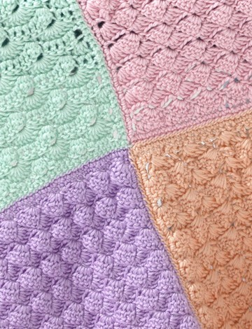 Crochet Baby Sampler Afghan Tutorial The Crochet Crowd