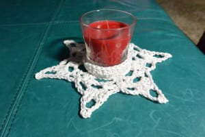Crochet Candle Centerpiece
