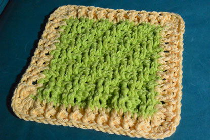 Lemon Lime Textured Dishcloth
