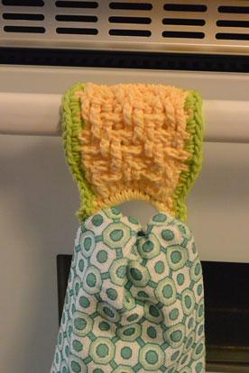 Lemon Lime Textured Towel Ring