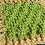 Lemon Lime Textured Dishcloth + Photographic Tutorial
