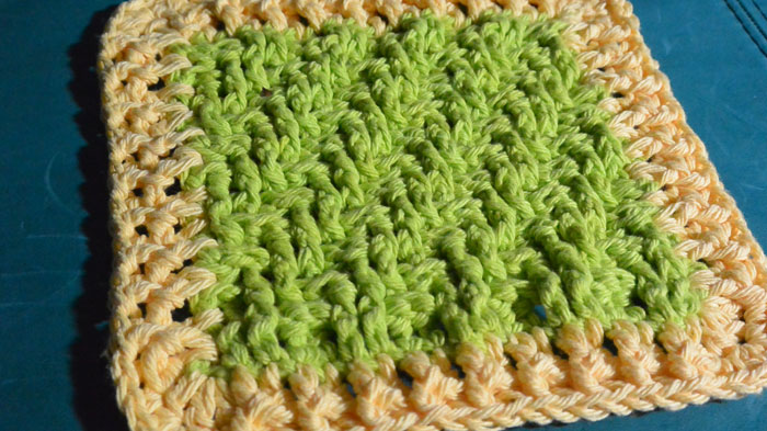 Lime Crochet Dish Cloth Pattern