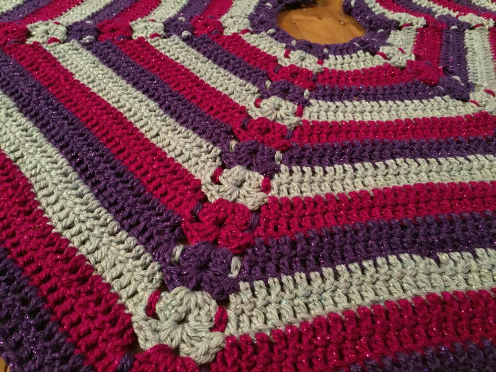 hexagon christmas tree skirt pattern tutorial - Christmas Tree Skirt Patterns