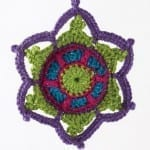 Crochet Jewelled Snowflake + Tutorial