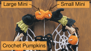 Crochet Miniature Pumpkins for Wreath