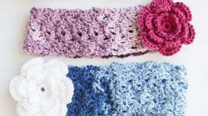 Cozy Posy Crochet Headband