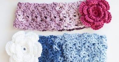 Cozy Posy Crochet Headband