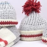 Crochet Sock Hats - All Sizes + Tutorial