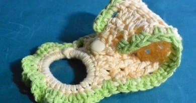 Lime Tea Crochet Towel Ring