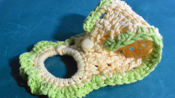 Lime Tea Crochet Towel Ring