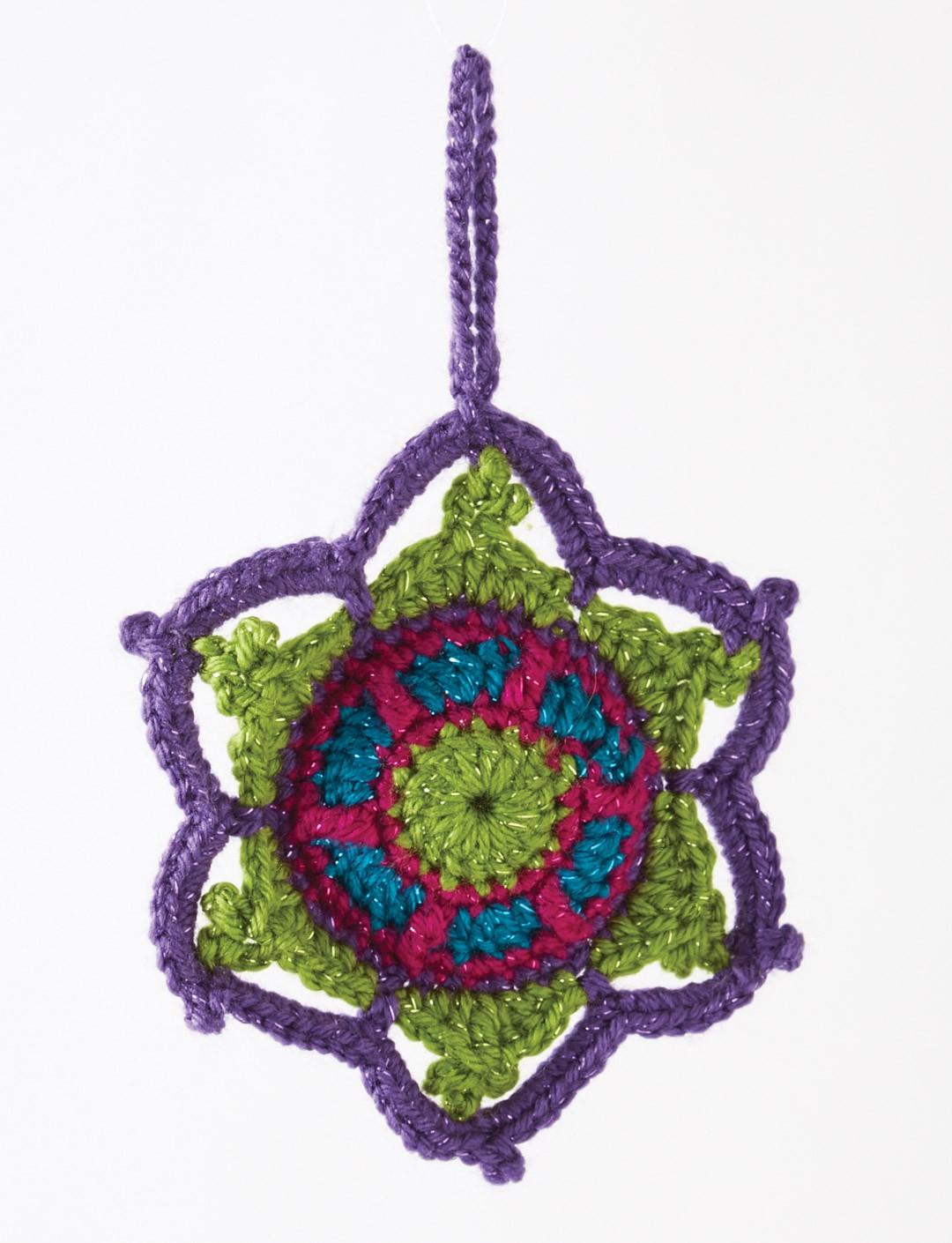 Crochet Jewelled Snowflake Tutorial The Crochet Crowd