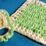 Lime Dishcloth Crochet Set