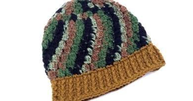 Crochet Camouflage Kids Hat Pattern