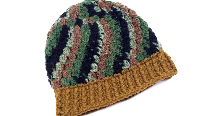 Crochet Camouflage Kids Hat Pattern
