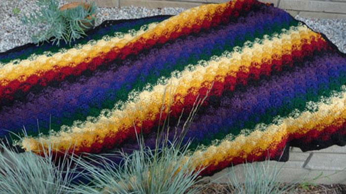 Catherine Wheel Stitch Crochet Afghan