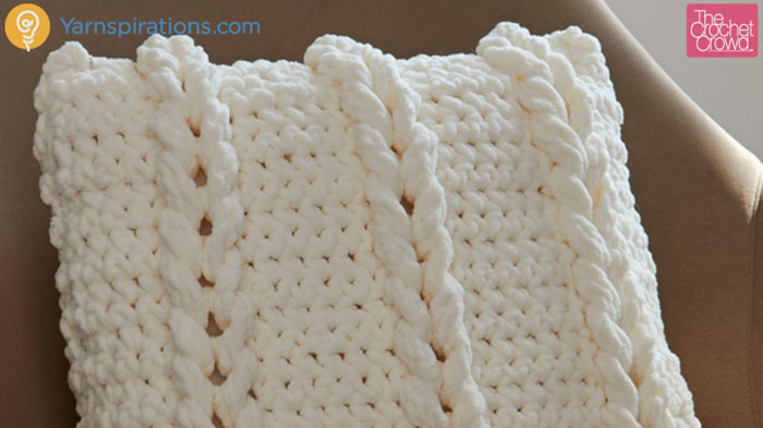 Crochet Chain Links Pillow