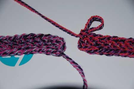 Infinity Headband crocheted by Jeanne Steinhilber