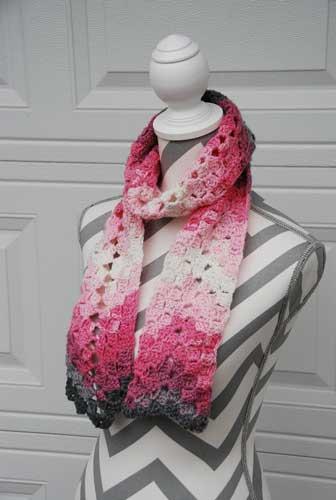 Vintage Rippling Scarf crocheted by Jeanne Steinhilber