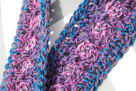 Extra Long Infinity Cowl crocheted by Jeanne Steinhilber