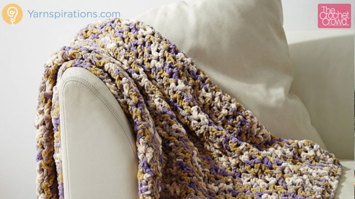 Crochet Patterns Using Bernat Home Bundle : Crochet Easie Pleasie Blanket PatternCrochet Easie Pleasie Blanket ...