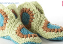 Crochet Granny Slippers Pattern