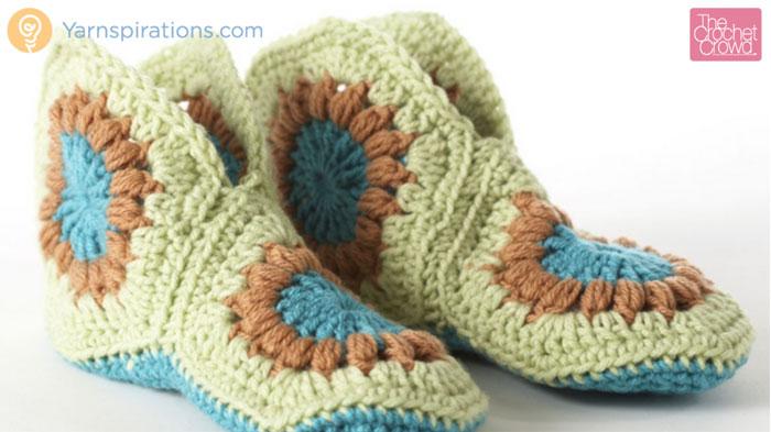 Crochet Granny Slippers Pattern