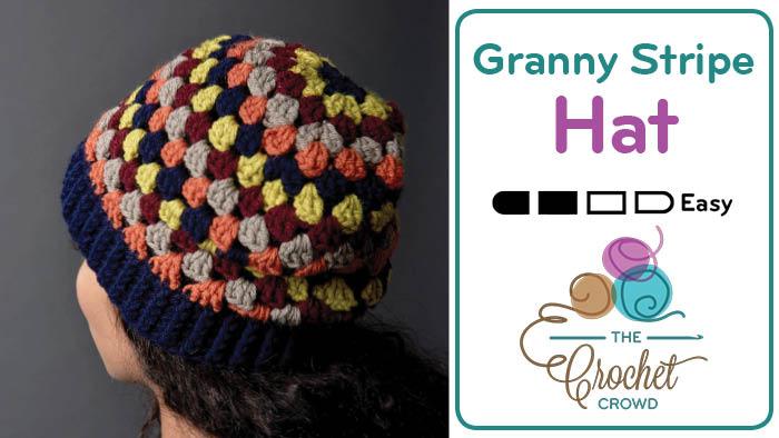761cb6ef4 Crochet Granny Stripes Hat + Tutorial   The Crochet Crowd